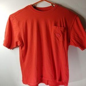 Joe Marlin Mens Red Pocket Logo Tshirt Sz XXL